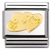 Charm Nomination Amour 030116-08 - Charm Coeurs Be Mine Mixte