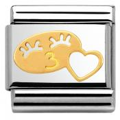 Charm Nomination Fun 030161-07 - Charm Her Smile With Heart Mixte