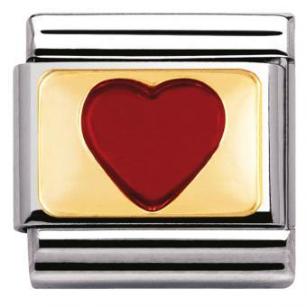 Charm Nomination Amour 030207-21 - Charm Cœur Rouge  Mixte