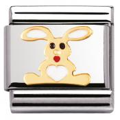 Charm Nomination Terre 030212-02 - Charm Lapin Blanc Mixte