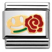 Charm Nomination Fun 030243-26 - Charm Smile With Rose Mixte