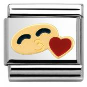 Charm Nomination Fun 030243-29 - Charm Smile With Heart Mixte