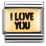 Charm Nomination Messages 030261-06 - Charm I Love You Mixte