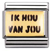 Charm Nomination Messages 030261-10 - Charm Ik Hou Van You Mixte