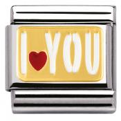 Charm Nomination Messages 030261-27 - Charm I Love You Mixte