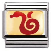 Charm Nomination Chinois 030275-10 - Charm Serpent Rouge Mixte