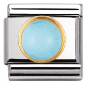 Charm Nomination Rond 030503-06 - Charm Turquoise Mixte