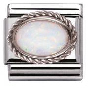 Charm Nomination 030509-07 - Charm Opal Blanche Mixte