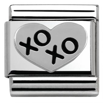 Charm Nomination Oxyde 330101-02 - Charm Xoxo Coeur Mixte