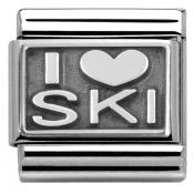 Charm Nomination Plaque 330102-22 - Charm I Love Skiing Mixte