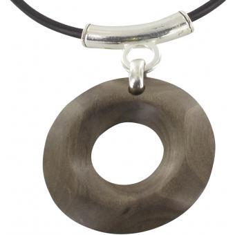 Collier Pendentif Rond Bois - Ubu - Ubu