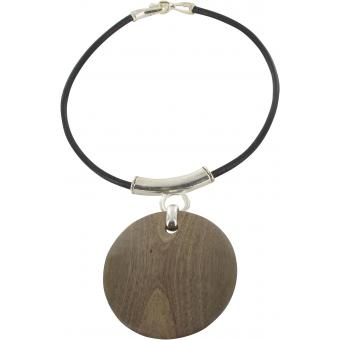 Collier Pendentif Disque Bois - Ubu - Ubu