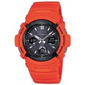 Montre Casio  Solaire Polymère Orange AWG-M100MR-4AER