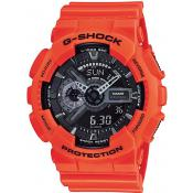 Montre Casio Ronde Orange Résine GA-110MR-4AER