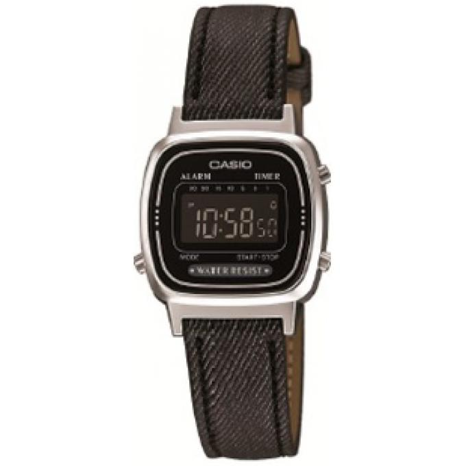 montre casio retro vintage la670wel 1bef montre rectangulaire tissu noire femme sur bijourama. Black Bedroom Furniture Sets. Home Design Ideas