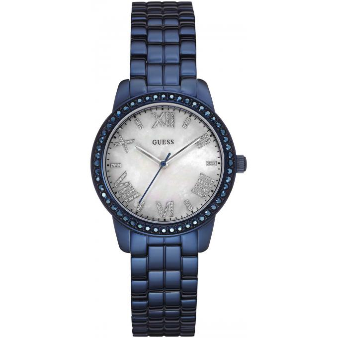 montre guess w0444l4 montre bleue strass femme sur bijourama montre femme pas cher en ligne. Black Bedroom Furniture Sets. Home Design Ideas