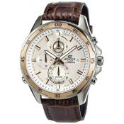 Montre Casio Cuir Marron Or EFR-547L-7AVUEF