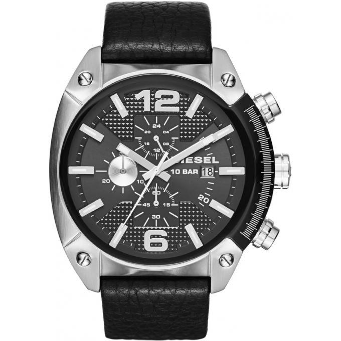 montre diesel dz4341 montre cuir acier homme sur bijourama montre homme pas cher en ligne. Black Bedroom Furniture Sets. Home Design Ideas