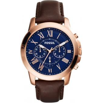 Montre Fossil FS5068 - Montre Cuir Or rose Homme