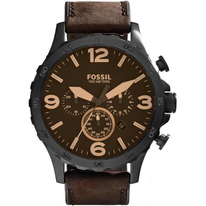 Montre Fossil JR1487 , Montre Cuir Marron Homme