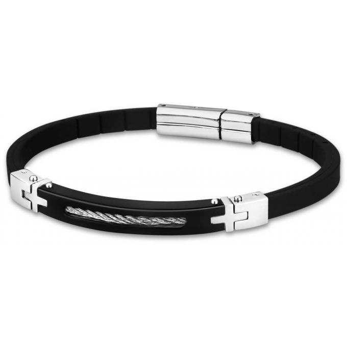 bracelet lotus style ls1641 2 2 bracelet acier noir. Black Bedroom Furniture Sets. Home Design Ideas