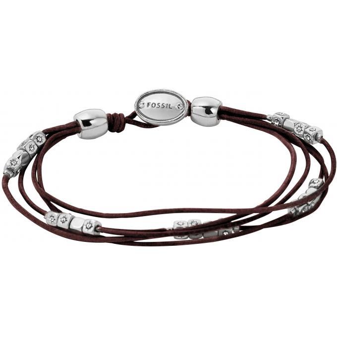 bracelet fossil ja5798040 bracelet cuir perles cristaux femme sur bijourama r f rence des. Black Bedroom Furniture Sets. Home Design Ideas