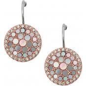 Boucles d'oreilles Fossil Bijoux Rondes Rosées JF01737791