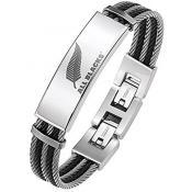 Bracelet All Blacks Bijoux Acier Ronde 682049 - Bijoux Createurs