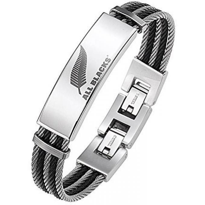 bracelet all blacks 682049 bracelet acier ronde homme sur bijourama r f rence des bijoux. Black Bedroom Furniture Sets. Home Design Ideas