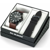 All Blacks Montres - Coffret All Blacks 680490 - Montre Homme Cuir