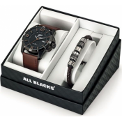 All Blacks Montres - Coffret All Blacks 680492 - Montre Homme Cuir