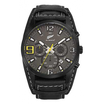 Montre ALL BLACKS 680298 - Montre Chronographe Noire Homme