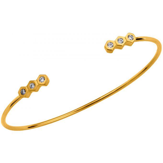 Bracelet Altesse 70271660108 , Bracelet Jonc Plaqué Or Femme
