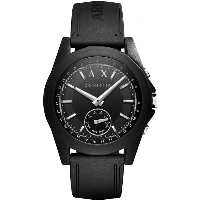 montre connect e armani exchange axt1001 montre connect e silicone noir homme sur bijourama. Black Bedroom Furniture Sets. Home Design Ideas