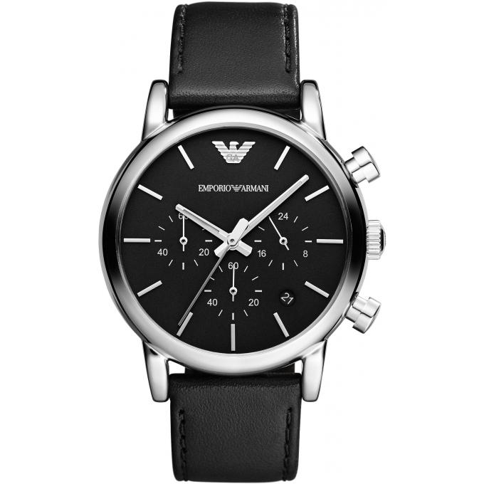 montre emporio armani ar1733 montre ronde cuir homme sur bijourama montre homme pas cher en. Black Bedroom Furniture Sets. Home Design Ideas