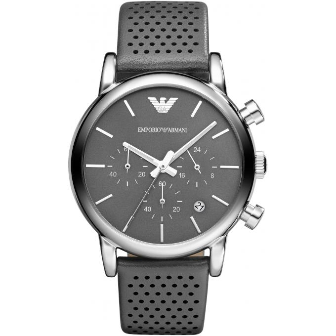 montre emporio armani ar1735 montre cuir gris homme sur bijourama montre homme pas cher en ligne. Black Bedroom Furniture Sets. Home Design Ideas
