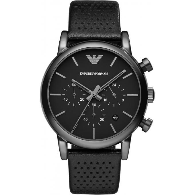 Montre emporio armani ar1737 montre noire ronde homme - Montre emporio armani homme pas cher ...
