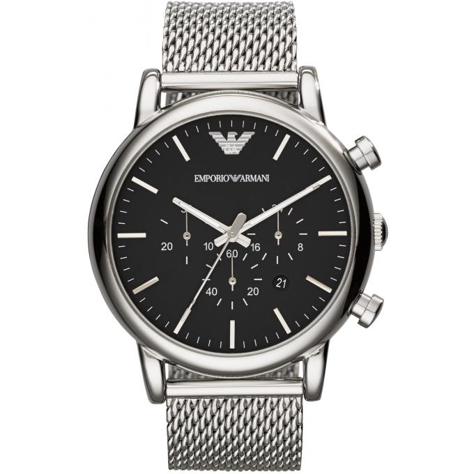 montre emporio armani ar1808 montre ronde argent homme sur bijourama montre homme pas cher. Black Bedroom Furniture Sets. Home Design Ideas
