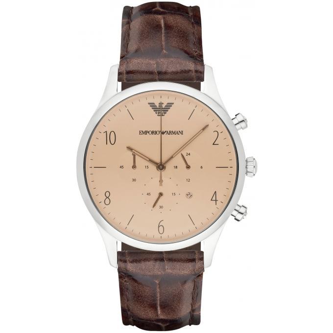 montre emporio armani ar1878 montre ronde marron homme sur bijourama montre homme pas cher. Black Bedroom Furniture Sets. Home Design Ideas