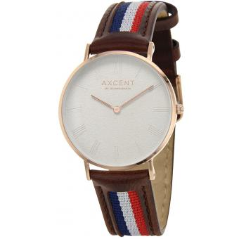 Montre Axcent IX5720R-11 - Montre Cuir Marron Mixte