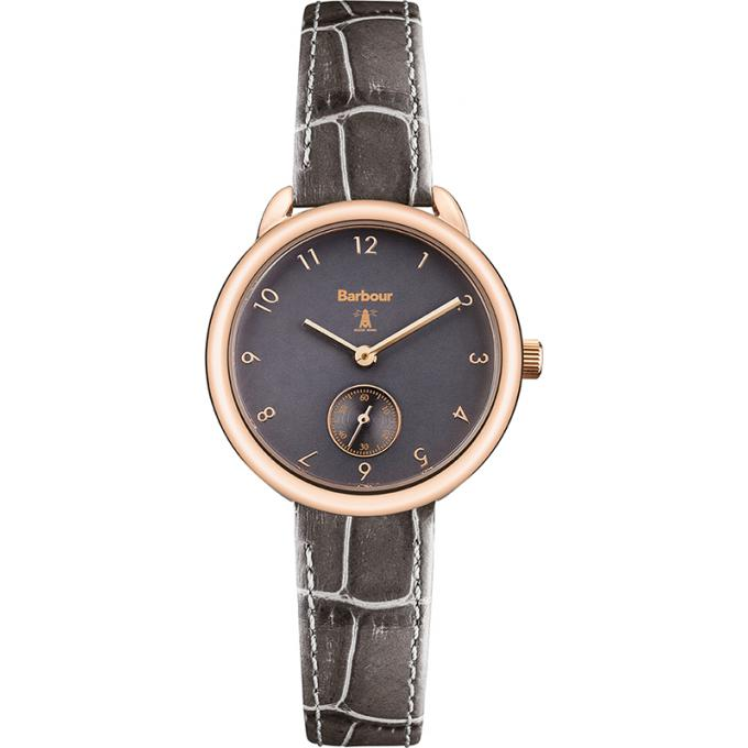 Promo : Montre Barbour BB035RSGY - Montre Cuir Or Rose Femme