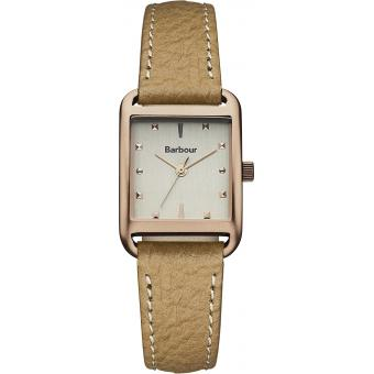 Montre Barbour BB013RSBG - Montre Rectangulaire Beige Femme