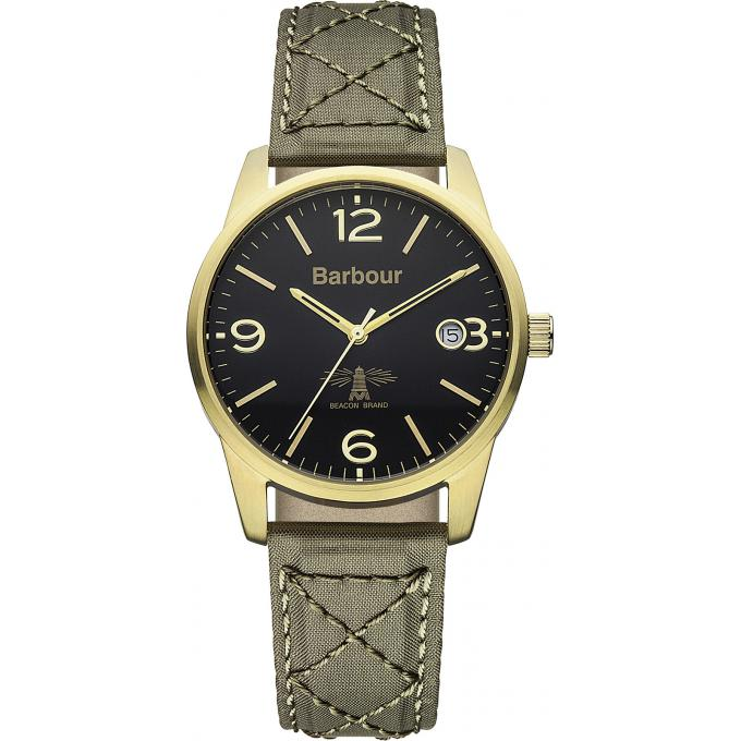 Montre Barbour BB026GRGR - Montre Cuir Beige Homme