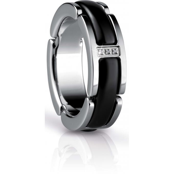 bague bering link 502 16 bague acier c ramique noire femme sur bijourama r f rence des bijoux. Black Bedroom Furniture Sets. Home Design Ideas