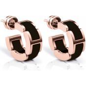 Boucles d'oreilles Bering Link Acier Céramique Or Rose 702-36-05