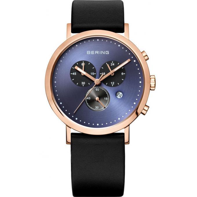 montre bering 10540 567 montre cuir ronde noir homme sur bijourama montre homme pas cher en. Black Bedroom Furniture Sets. Home Design Ideas