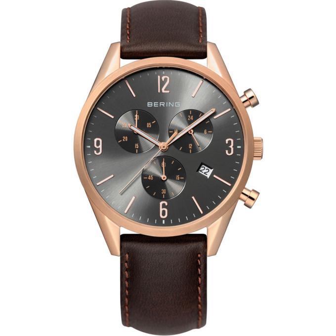 montre bering 10542 562 montre cuir ronde marron homme sur bijourama montre homme pas cher. Black Bedroom Furniture Sets. Home Design Ideas