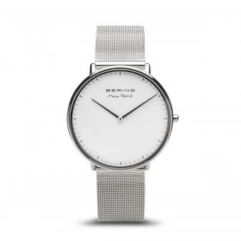 Montre Bering 15738 004 Boîtier acier brillant cadran gris bracelet acier()