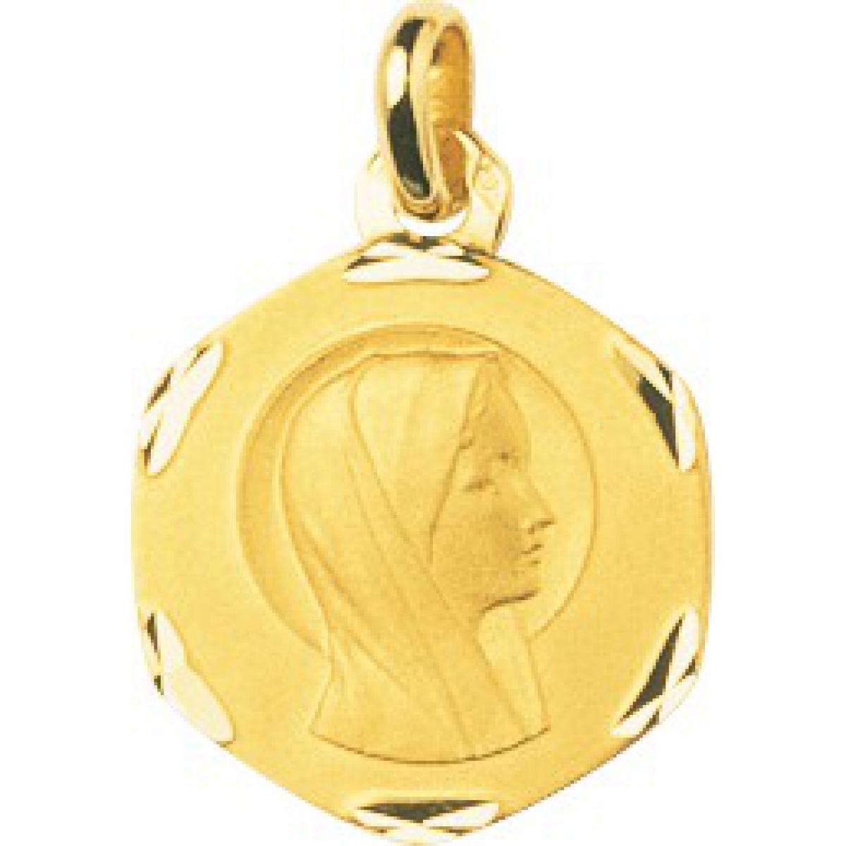 Médaille vierge or 750/1000 jaune (18K)