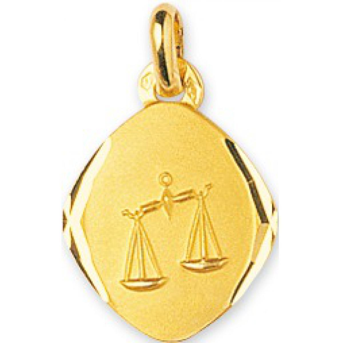 Médaille Signe Astrologique balance Or 375/1000 jaune (9K)
